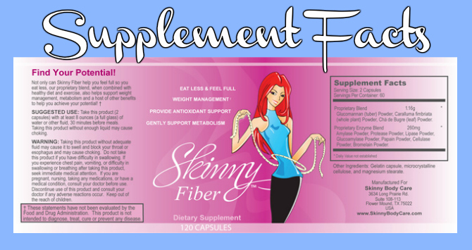 Skinny Fiber Ingredients Label